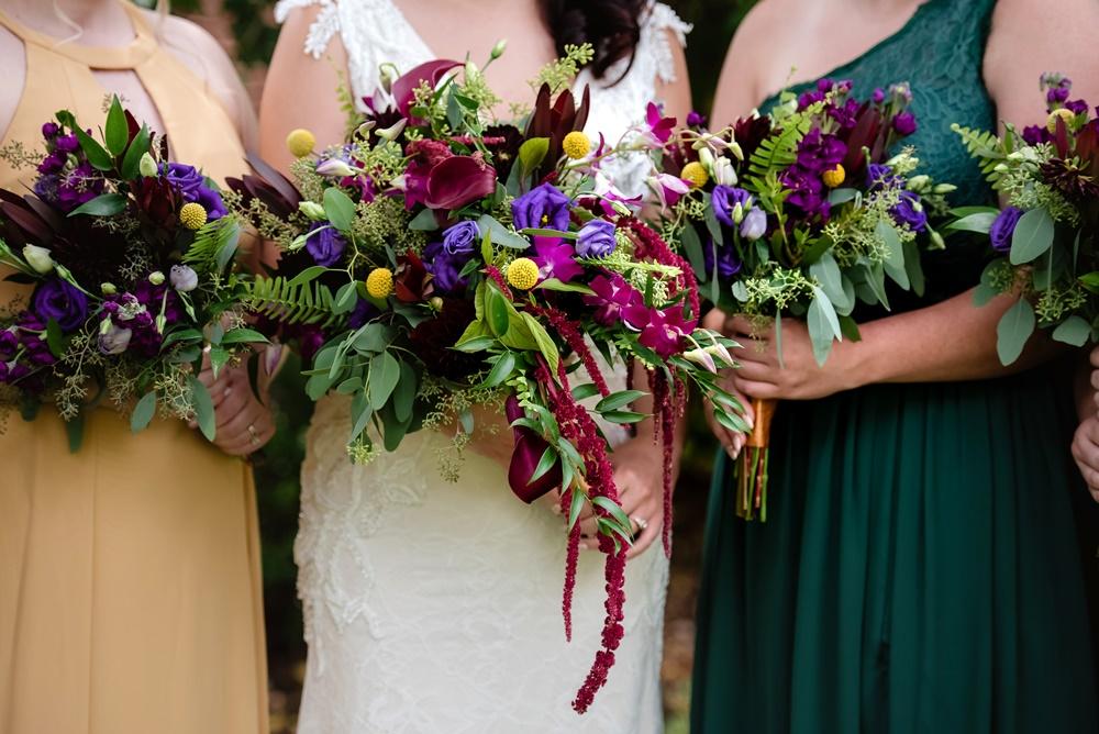 Jewel Tone Bouquets
